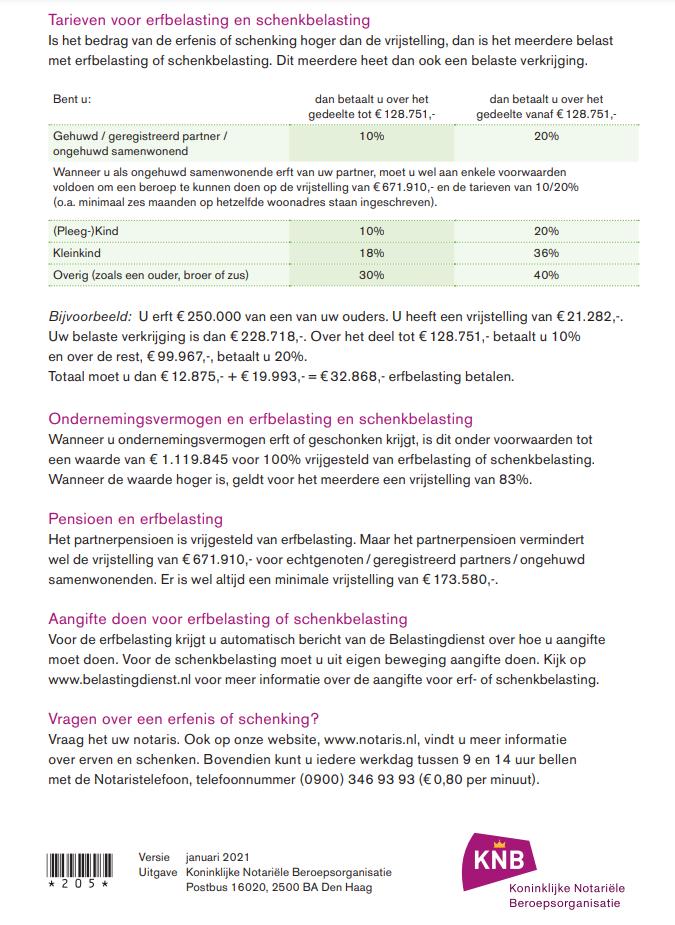Erf-schenkbelasting cijfers 2021 pagina 2